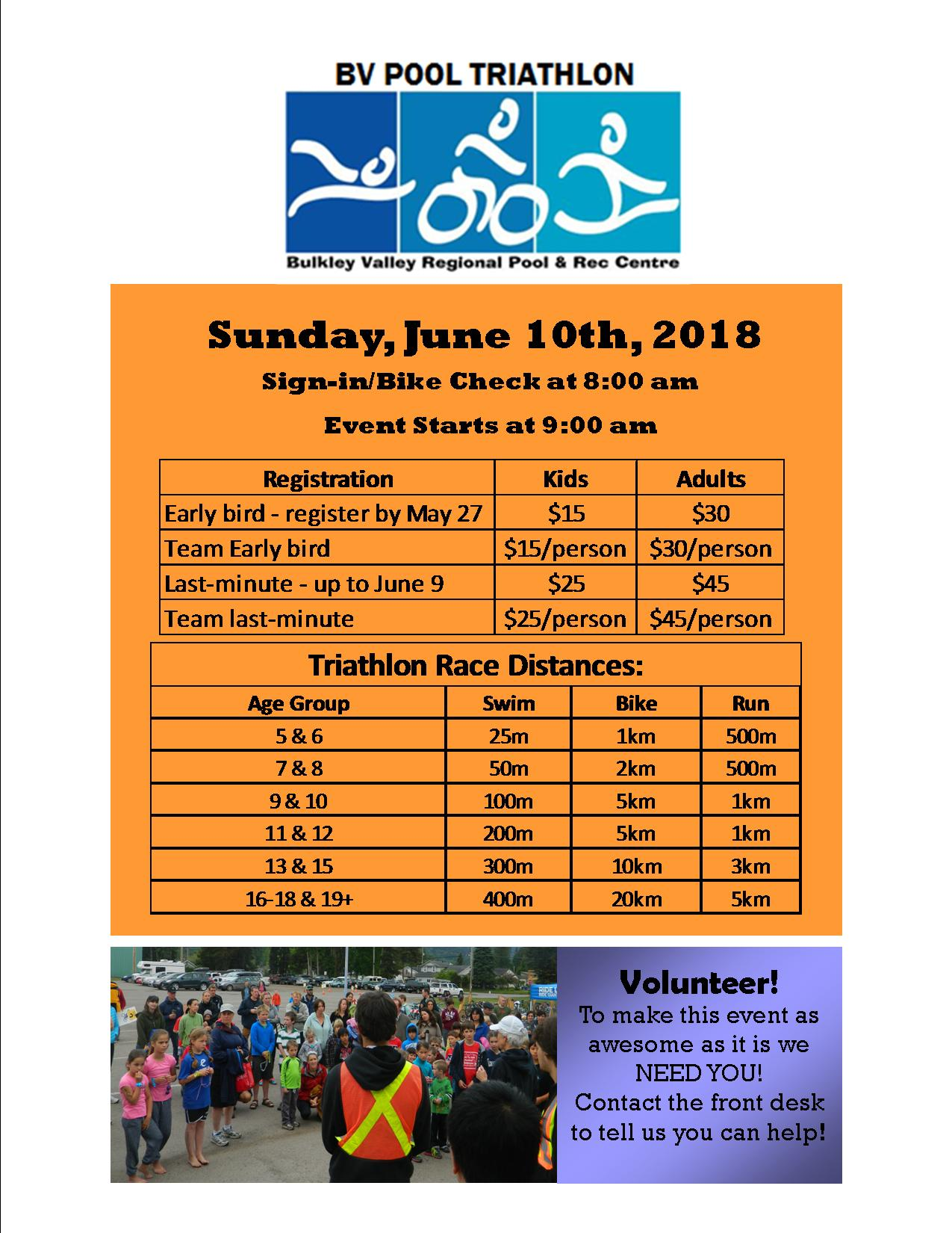 Info sheet for BV Triathlon Event